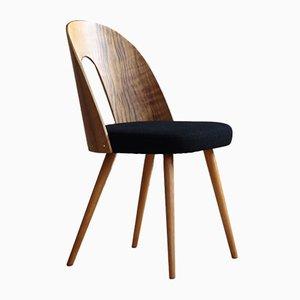 Mid-Century Black Wool Dining Chairs by Antonín Šuman, 1960s, Set of 4