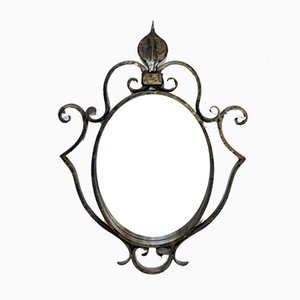 Mid-Century French Wrought Iron Mirror