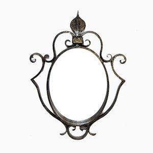 Specchio Mid-Century in ferro battuto, Francia