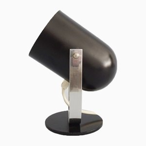 Black Metal & Chromium Table Lamp, 1960s