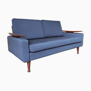 Mid-Century Navy Blue Sofa Bed from Greaves & Thomas