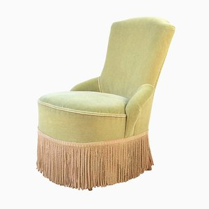 Mid-Century Boudoir Armchair with Fringes, 1950s