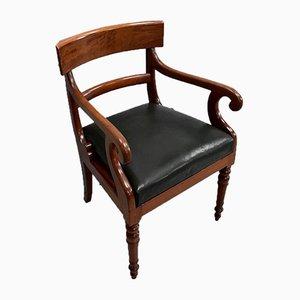 Viktorianische Massivholz Mahagoni Schreibtischstühle, 2er Set