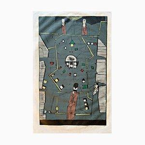Wood Table Game Coloré par Horst Janssen, 1987