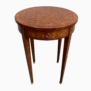 Small Directoire Style Marquetry and Rosewood Pedestal Table, 1920s