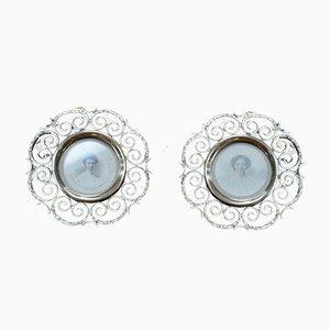 Antike viktorianische Messingrahmen aus Messing mit Ringen, 2er Set