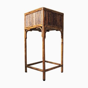 Square Bamboo Plant Stand, 1970s