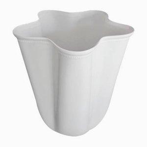 Vase Fivefold Mid-Century en Porcelaine Blanche par Wilhelm Wagenfeld pour Fürstenberg