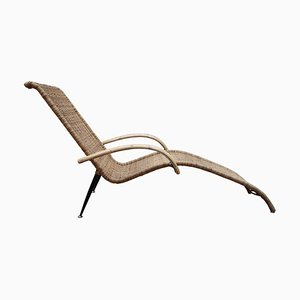 Outdoor Patio Wicker Lounge Chairs, 1980s, Set of 2