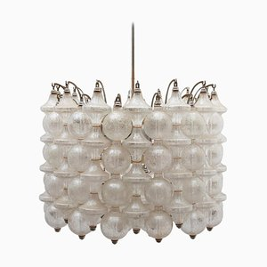 Italian Interlocking Glass Chandelier by Venini, 1960s