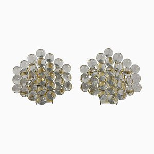 German Murano Glass Ball Sconces, 1970s, Set of 2