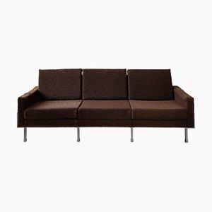 Mid-Century Modern Brown 3-Seat Sofa, 1970s
