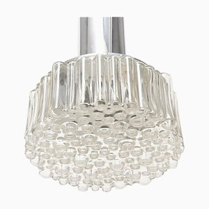 German Clear Bubble Light Pendant Lamp by Helena Tynell for Limburg, 1969