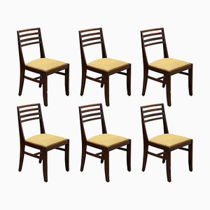 Belgian Art Deco Dining Chairs from De Coene, 1930s, Set of 6