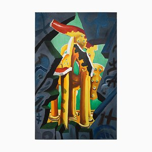 Peinture The Tempel par Cesar Bailleux, 1989