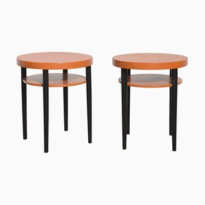 Round Side Tables from Thonet, 1918, Set of 2