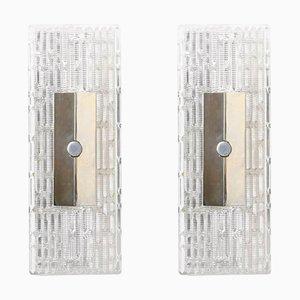 Modernistische Wandlampen von Kaiser Leuchten, 1970er, 2er Set