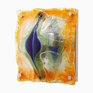 Pop Art Skulpturale Glas Wandlampe von Toni Zuccheri für Mazzega, 1970er