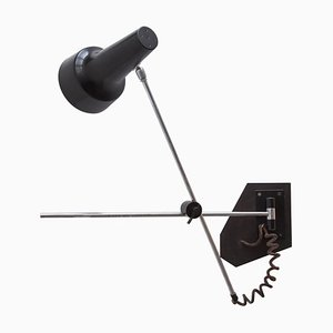 Black Adjustable Dining Spotlight Wall Light by J. J. M. Hoogervorst for Anvia, 1960s