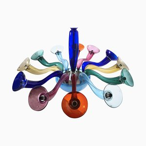 Large Multicolored Ve-Art 10-Arm Chandelier by Ernesto Gismondi for Artemide, 1990s
