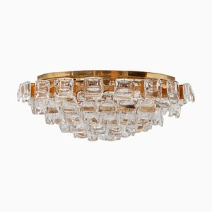 German Gilt and Crystal Chandelier by Ernst Palme for Palwa, 1970s
