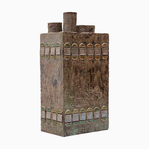 Belgian Constructivist Ceramic Vase, 1970s
