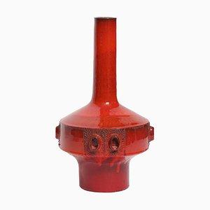 Grand Vase en Céramique Rouge par Rogier Vandeweghe pour Amphora, Belgique, 1960s