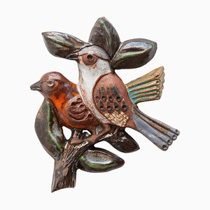 Belgian Wall Mounted Bird Sculpture from Perignem, 1960s