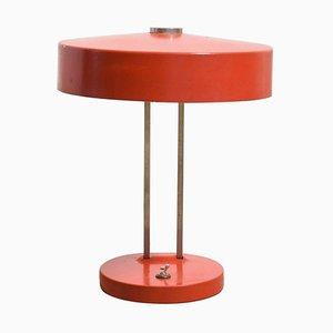 Rote Verstellbare Bauhaus Schreibtischlampe von Christian Dell für AK Kaiser, 1960er