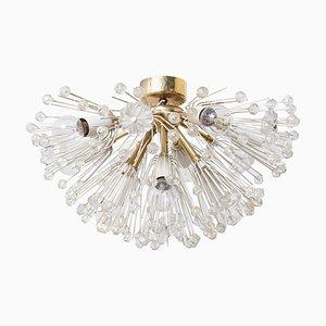 Österreichische Glas & Messing Starburst Deckenlampe von Emil Stejnar für Rupert Nikoll, 1950er