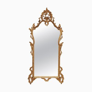 19th-Century French Rococo Giltwood Mirror