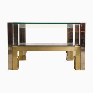 Table Basse en Bronze par Alfredo Freda pour Cittone Oggi, 1970s