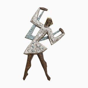 Stilisiertes Mädchen von Rogier Vandeweghe für Amphora, 1960er