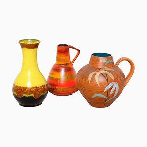 Deutsche Vasen von Hans Welling für West German Pottery, 1960er, 3er Set