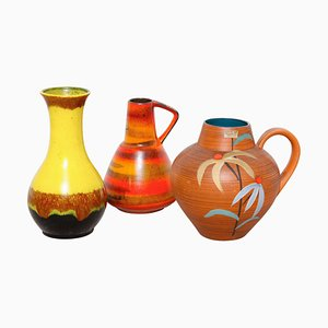 German Vases by Hans Welling for West German Pottery, 1960s, Set of 3