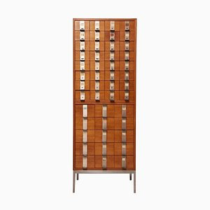 Large Rosewood & Oak Cabinet with Drawers by Philippe Neerman for De Coene, 1958