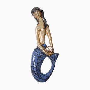 Belgian Amphora Ceramic Mermaid by Rogier Vandeweghe, 1960s