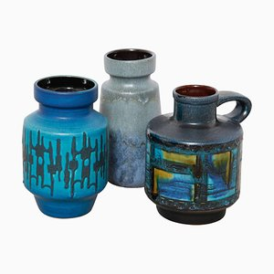 Deutsche Keramik Vasen, 1960er, 3er Set