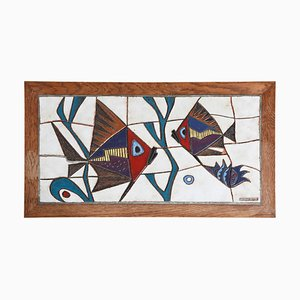Keramik Glastisch von Paul Vermeire, 1962