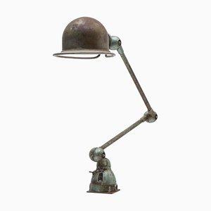 Lampe de Bureau Ajustable Industrielle à Deux Bras par Jean Louis Domecq pour Jielde, 1953