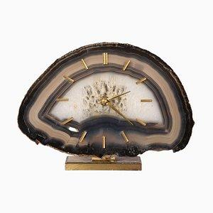 Horloge de Bureau Junghaus en Agate Stone, Allemagne, 1960s
