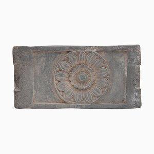 Antike antike buddhistische steinerne Altar Tischplatte mit Lotusblüte