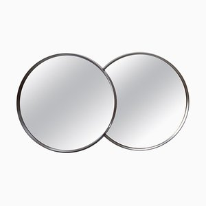 Circle Mirrors, 1970s, Set of 2