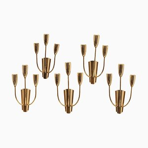 Brass Sputnik Sconces from Stilnovo, 1950s