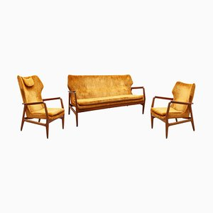 Living Room Set by Aksel Bender Madsen for Bovenkamp, 1952, Set of 3