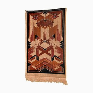 Art Deco Samt Teppich, 1930er