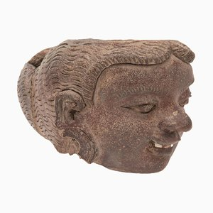 Antique Artefact Majapahit Terracotta Expressive Head