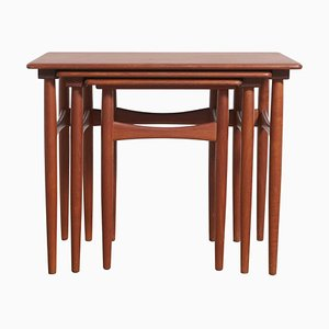 Tables Gigognes en Teck, Danemark, 1959, Set de 3
