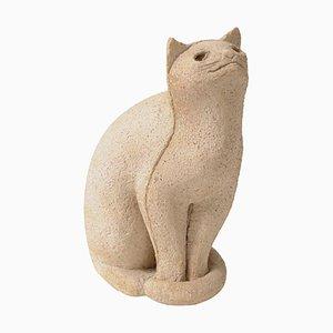 Keramik Katze Skulptur, 1970er