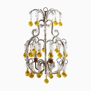 French Regency Crystal Beads Chandelier, 1920s